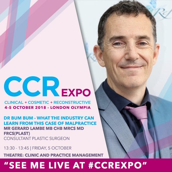Dr Bum Bum & BBL Cosmetic Surgery Talk at CCR Exhibition 2018